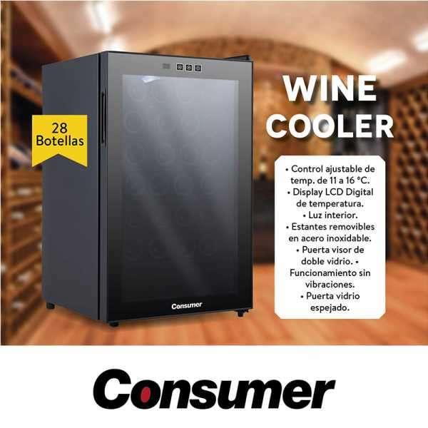 Enfriador de vino Consumer 28 botellas Winecooler - 0