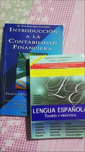 Libro de contabilidad y castellano