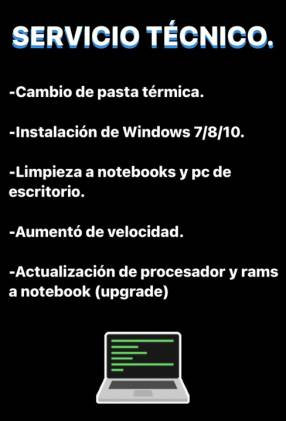Servicio técnico para Notebook y PC