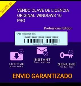 Clave de licencia Windows 10 original