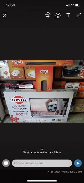 Smart TV Tokyo de 50 pulgadas 4K con barra de sonido gratis