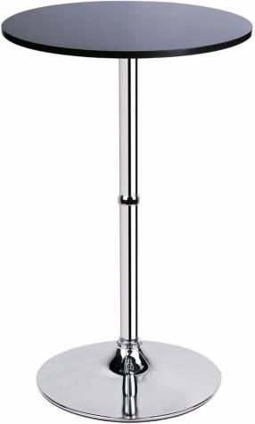 Mesa de vidrio con base cormado