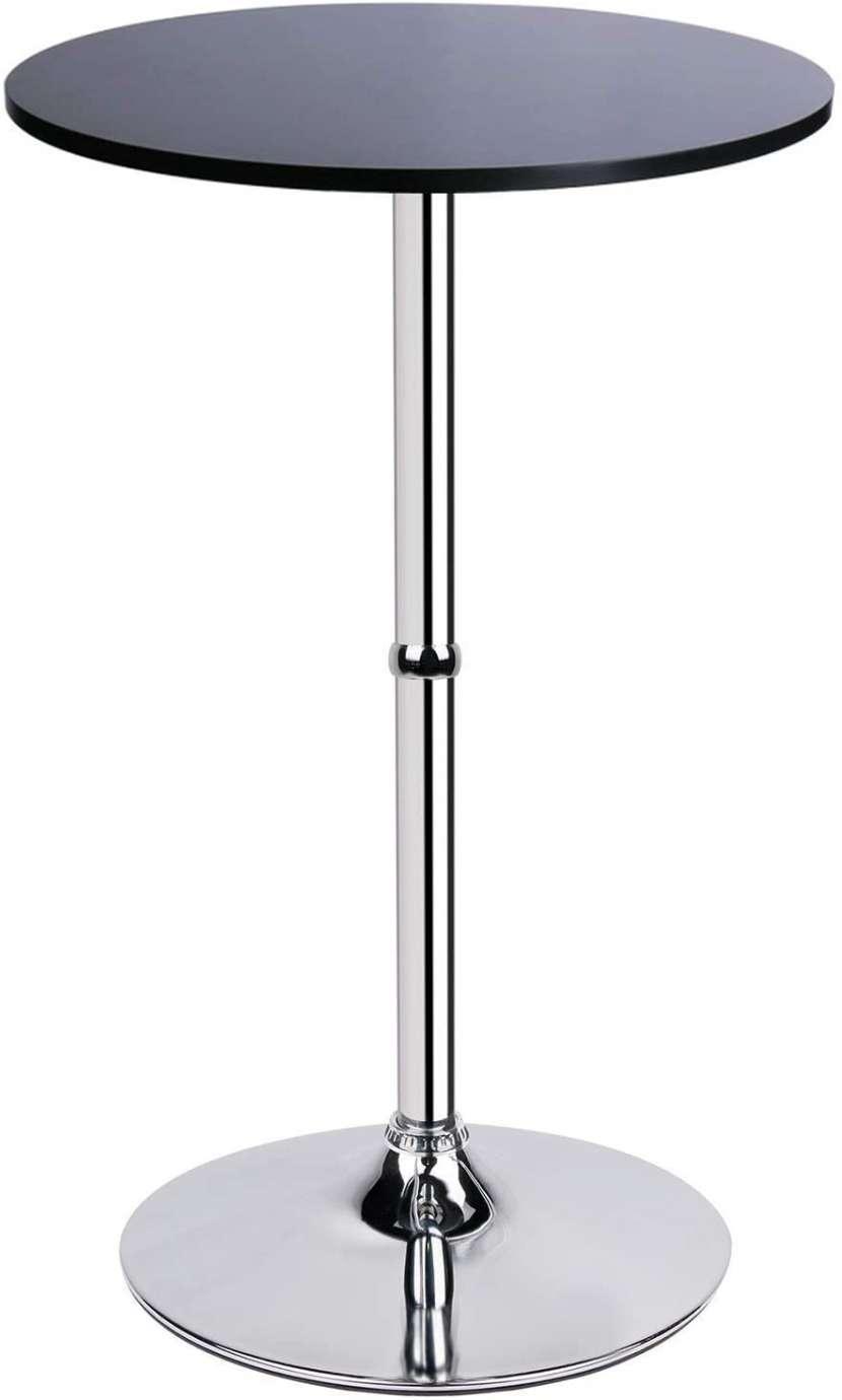 Mesa de vidrio con base cormado - 0