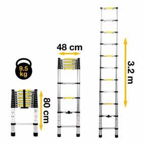 Escalera telescópica 3.2 metros consumer (20078)