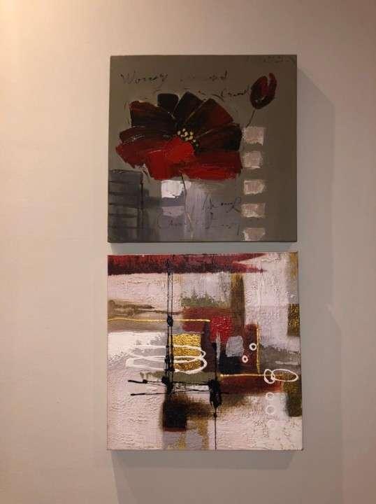 Cuadros florales y abstracto - 1
