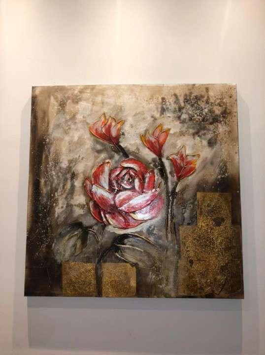 Cuadros florales y abstracto - 0