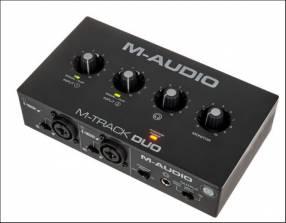 Interfaz de audio USB 2 canales m-audio m-track dúo
