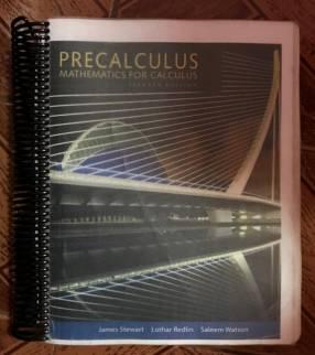 Precalculus Mathematics For Calculus Seventh Edition