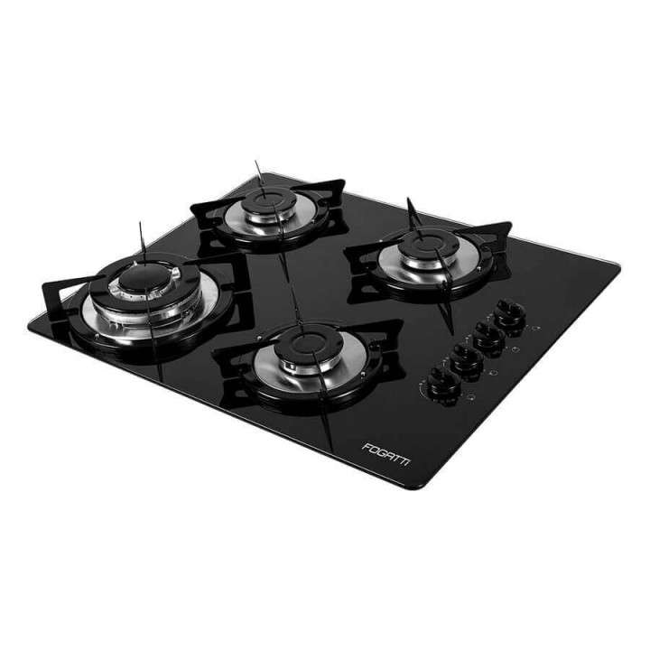 Anafe Fogatti cooktop 4 hornallas V400TC negro Abba - 0