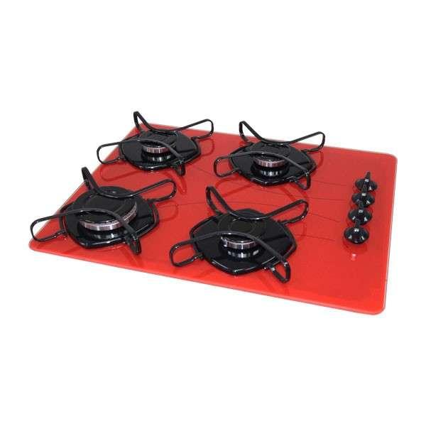 Anafe Abbatec cooktop 4 hornallas Abba rojo - 0