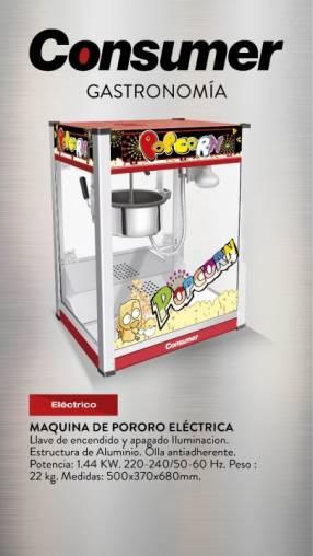 Maquina de pororo eléctrica