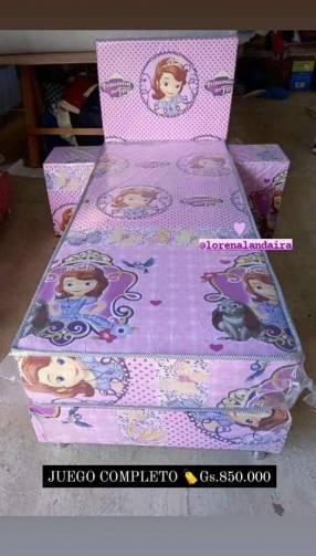 Sommier infantil diseño Princesa Sofía
