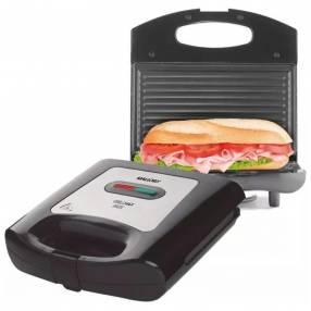 Sandwichera y grill Mallory Grill Max Inox 2 en 1