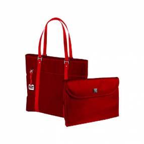 Bolso Klip Verona rojo femenino