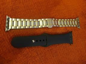 Malla de acero para Apple watch (38/40mm) (+1 malla gratis)