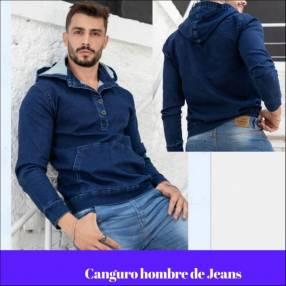Canguro para hombre de jeans