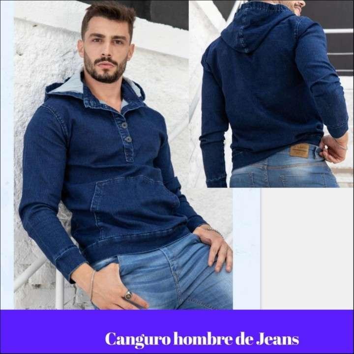 Canguro para hombre de jeans - 0