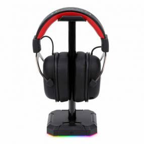 Soporte para auriculares gamer Redragon Sceptre Pro con RGB