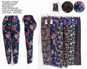 Pantalón frizado floreado