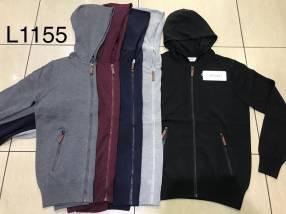 Suéter para caballero con cierre y capucha SINGKEIL1155