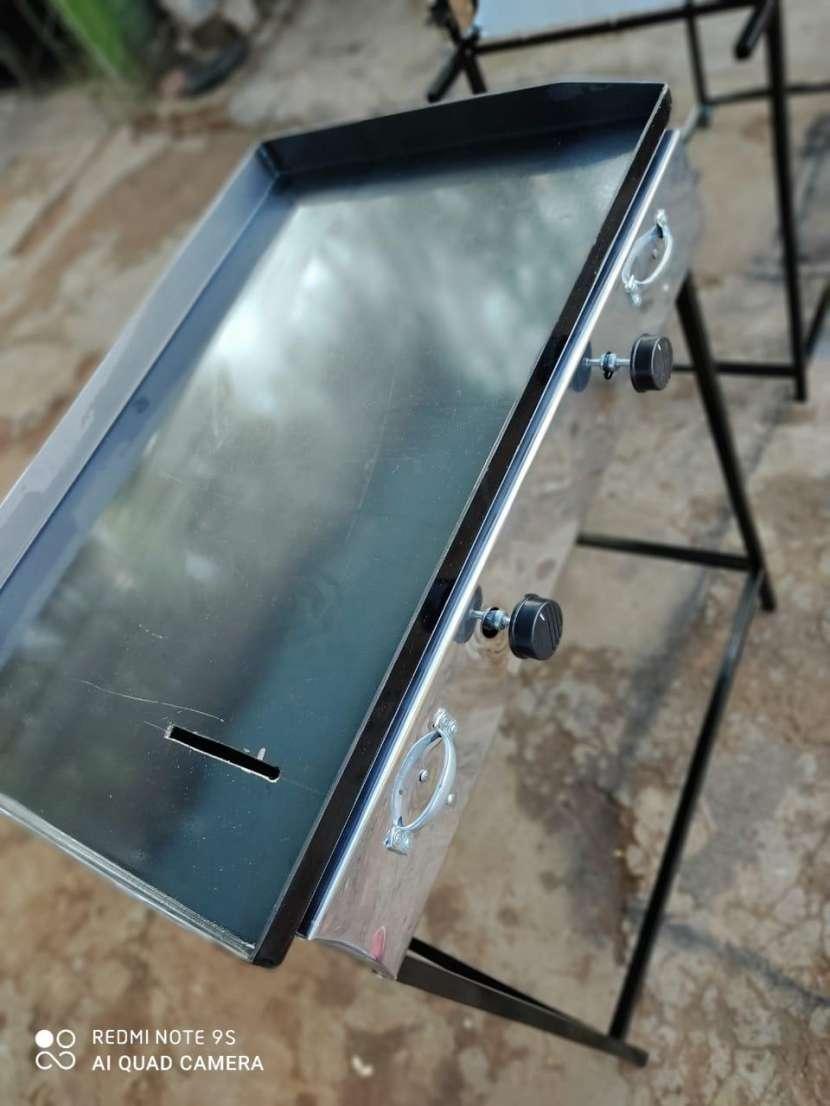 Fabricamos planchas hamburgueseras cocinas industriales topinera - 0