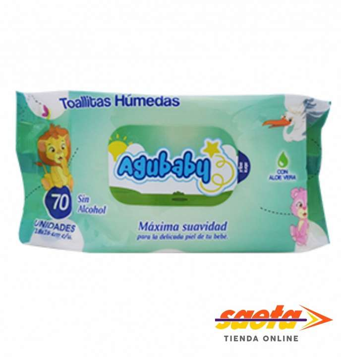 Toallita húmeda Agubaby x 70 unidades - 0