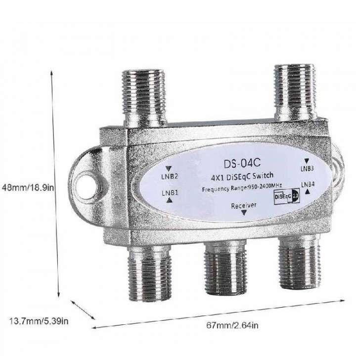 Receptor de señal LNB para antena 4 bocas salida 950-2150MHz - 0