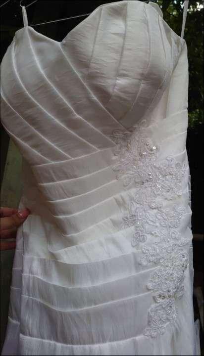 Vestido de novia blanco de gripur - 1
