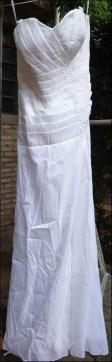 Vestido de novia blanco de gripur - 6