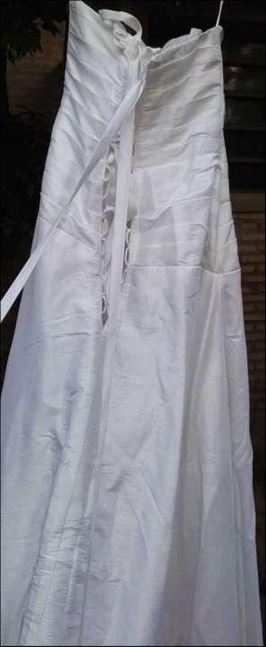 Vestido de novia blanco de gripur - 2