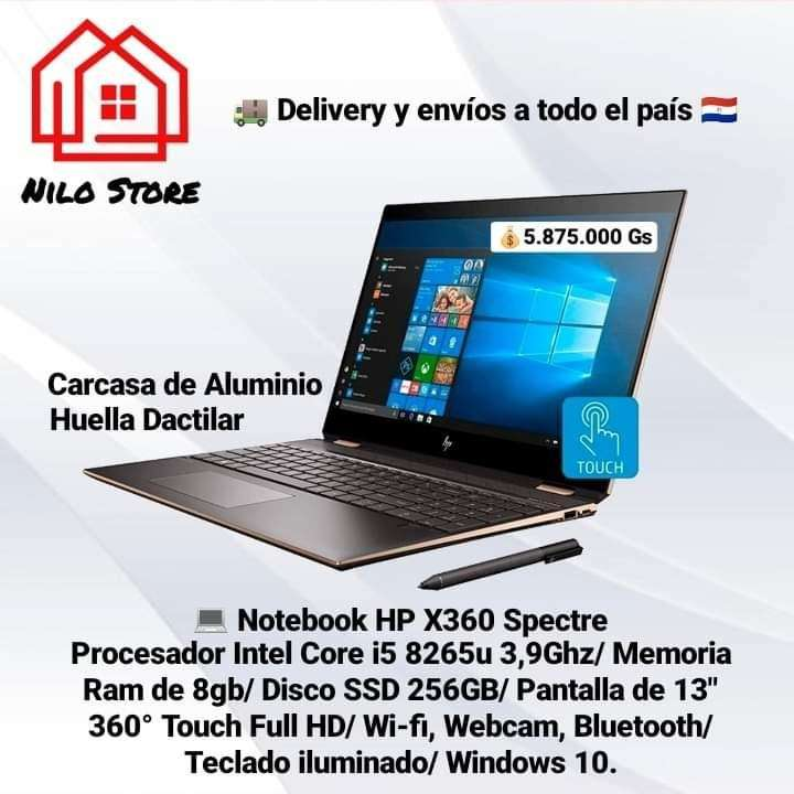 Notebook HP X360 Spectre i5 - 0