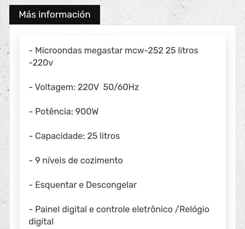 Microondas Mega Star 25L - 1