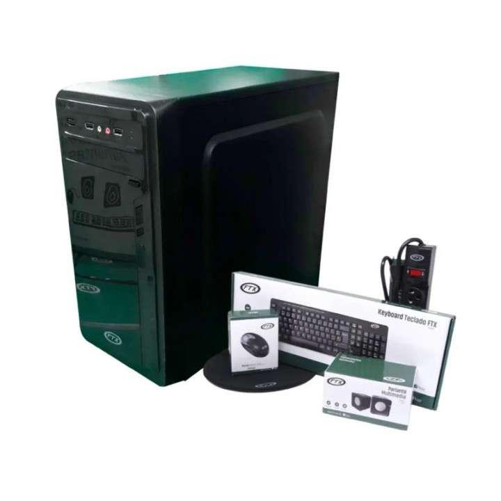 Gabinete KIT FTX7808 +500W+MOUSE+TECLADO PORT+SPEAKER+SD CARD - 0