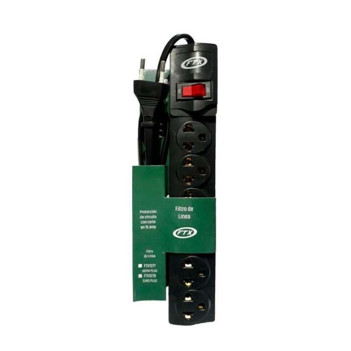 Filtro de línea FTX1078 6 tomas EU/BR 110/220 - 0