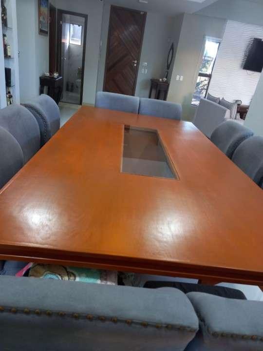 Mesa de comedor con 10 sillas - 2