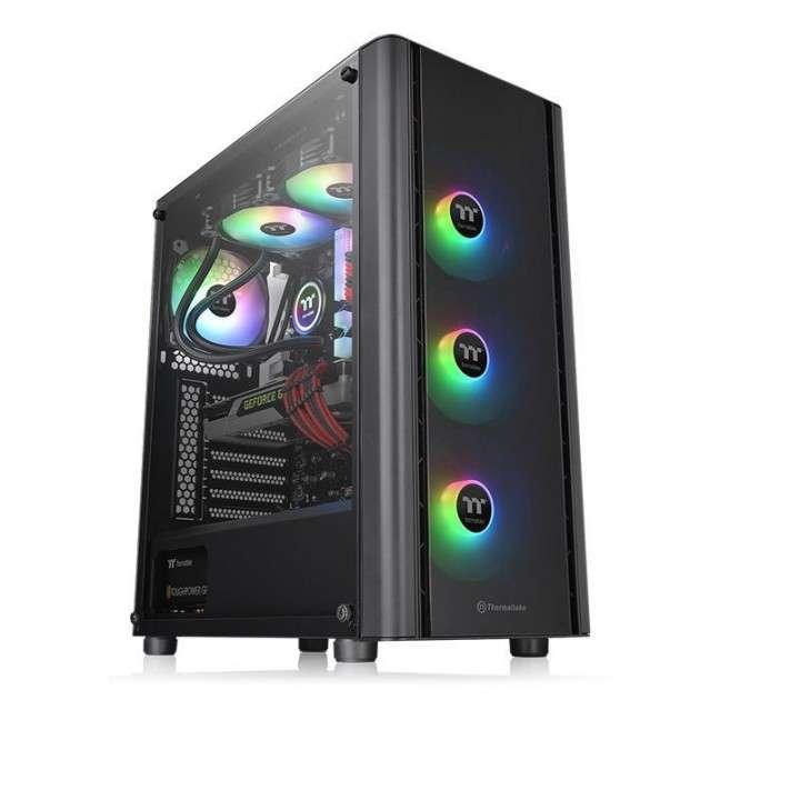Gabinete Thermal V250 Black TG ARGB 3FAN CA-1Q5-00M1WN-00 AURA AT - 0