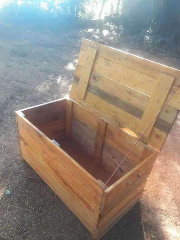Caja baúl rústico - 0