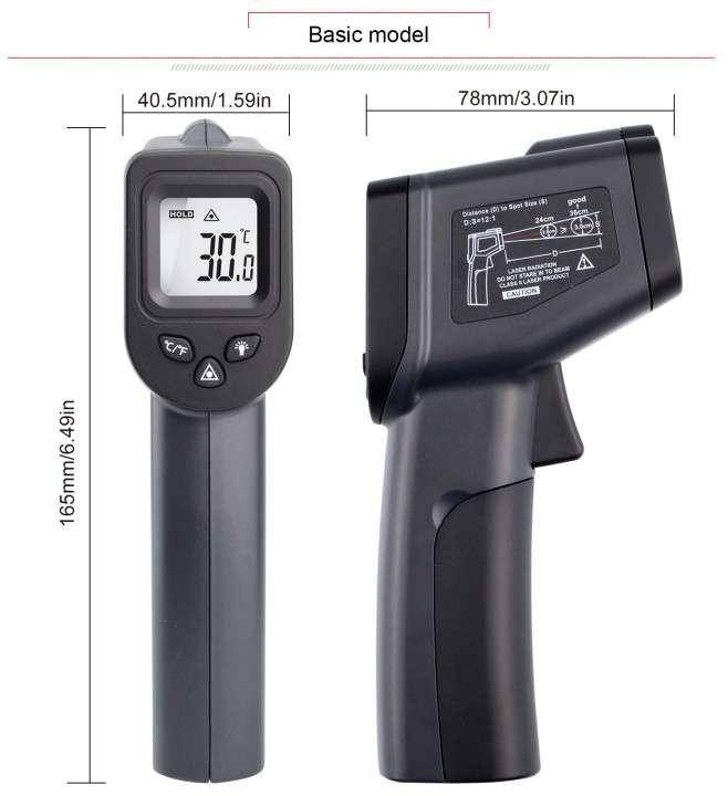 Termómetro láser infrarrojo sin contacto - 6