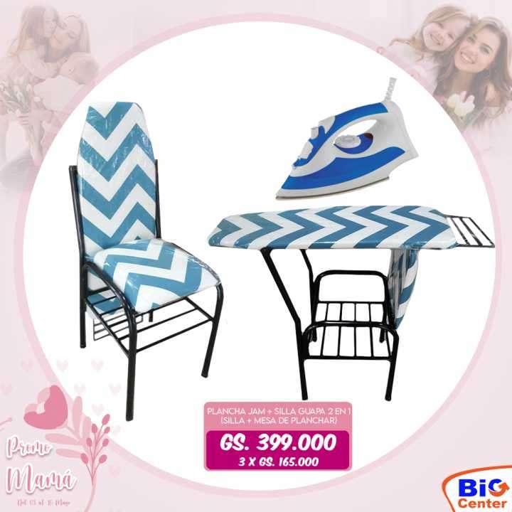 Plancha JAM con tabla de planchar y silla - 0