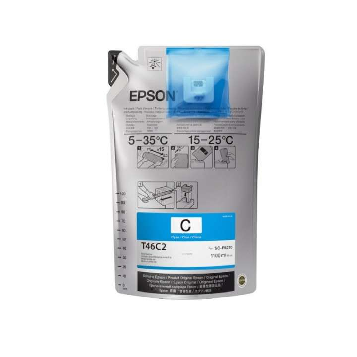 Tinta cyan ultrachrome Epson F6370 T746C220 - 0