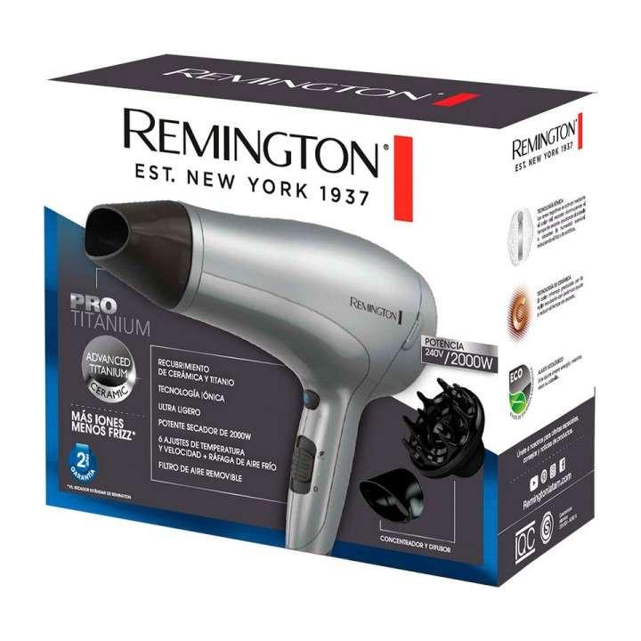 Secador de pelo Remington D3019 Gris Pro Titanium - 0
