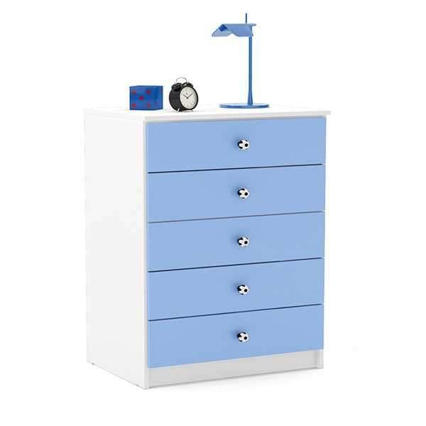 Cómoda politorno 5 cajones azul 3115 - 0