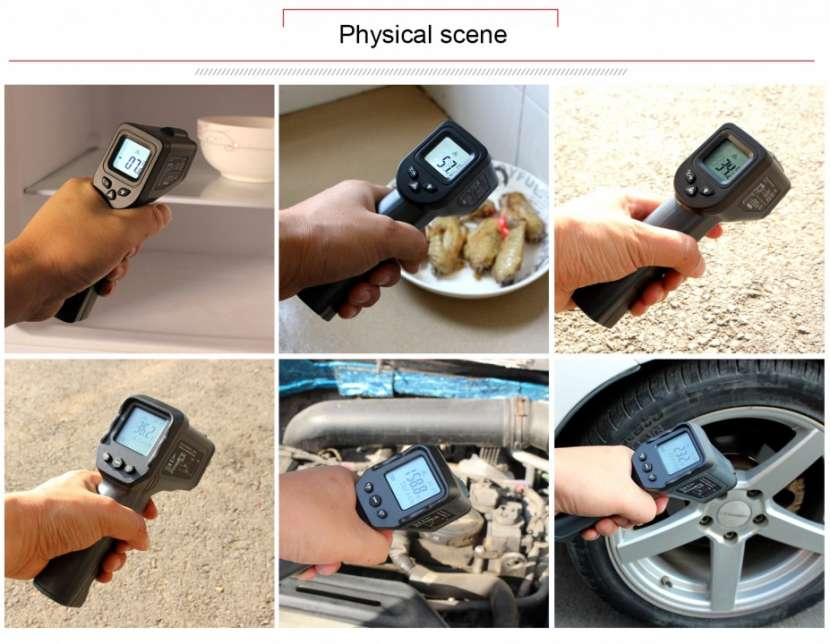 Termómetro láser infrarrojo sin contacto - 2