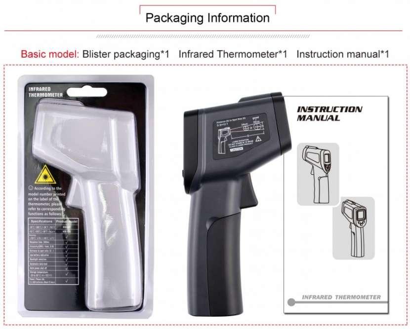 Termómetro láser infrarrojo sin contacto - 1