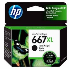 Tinta negra HP 3YM81AL 667XL 2375/2775
