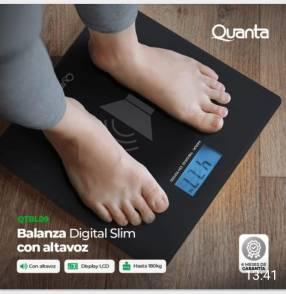 Balanza corporal con altavoz hasta 180 kilos