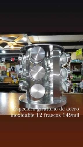 Especiero giratorio de 12 frascos