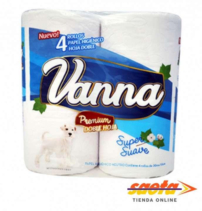 Papel higienico vanna doble hoja x 4 unidades - 0