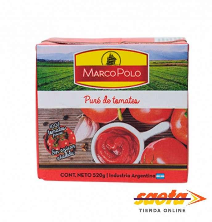 Puré de tomates Marcopolo 520 gramos - 0