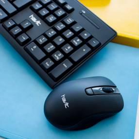 Kit teclado wireless y mouse óptico español portugués Havit KB257GCM 50106